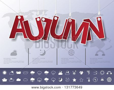 Design Abstract Infographic Front On The Rope.vector/illustration.weather Icon Set.