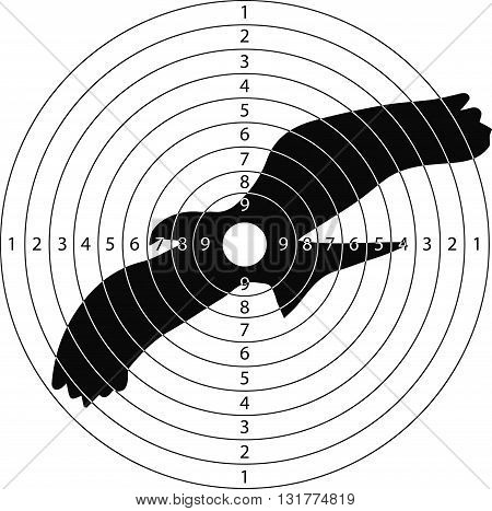 shooting target big bird for the shooting range small arms made in the vector