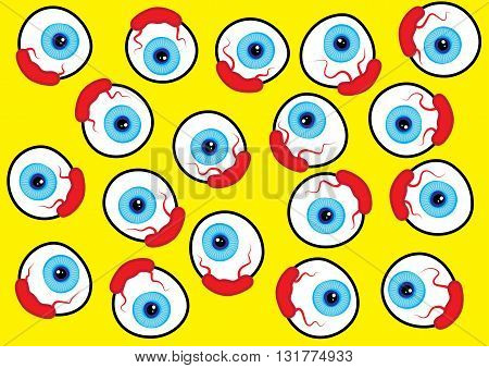 eyeball internet netlingo pattern design vector illustration