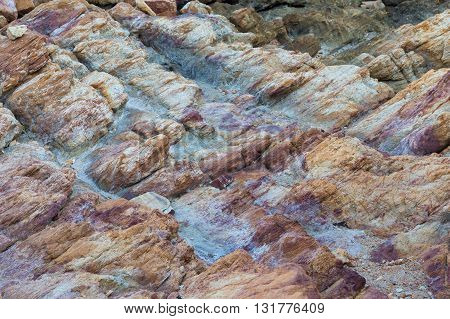 Stone and rock texture, natural landscape background