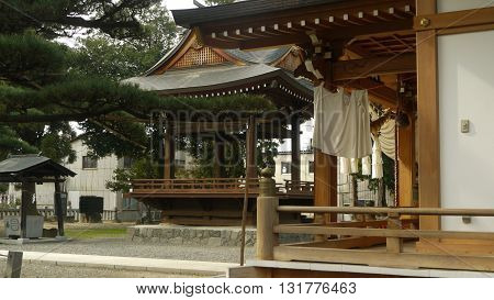 Little Shinto temple in Kofu, a city in Japan