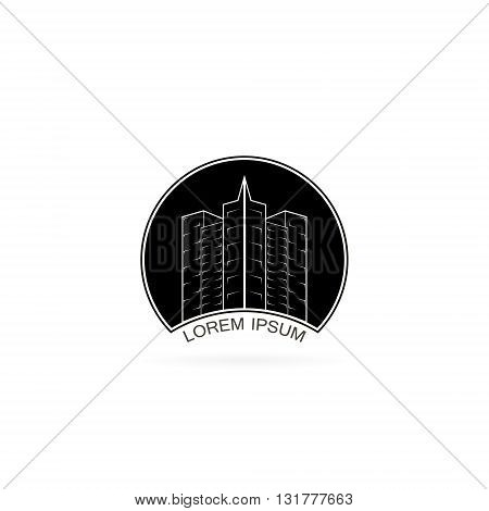 house logo design template. city or building icon