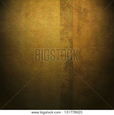ROUGH WEATHERED WALL, BROWN - GOLD PAINT, CLOSEUP BACKGROUND