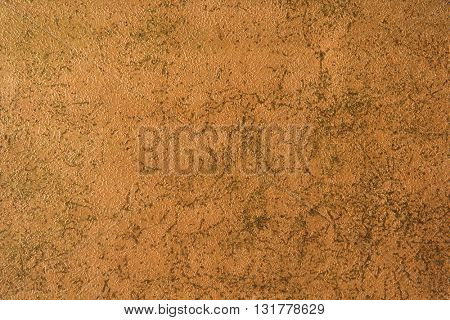 ROUGH WEATHERED WALL, BROWN PAINT CLOSEUP BACKGROUND
