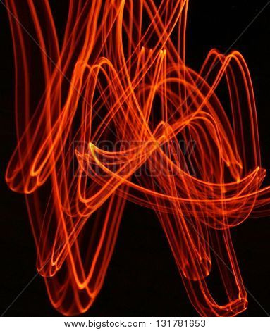 Abstract light design using light painting techniques