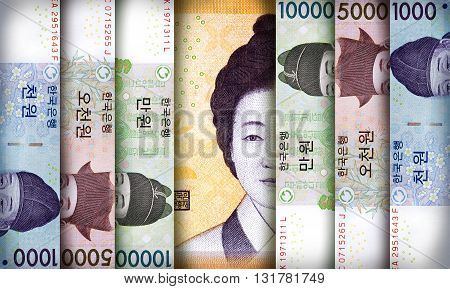 South Korean Won Background