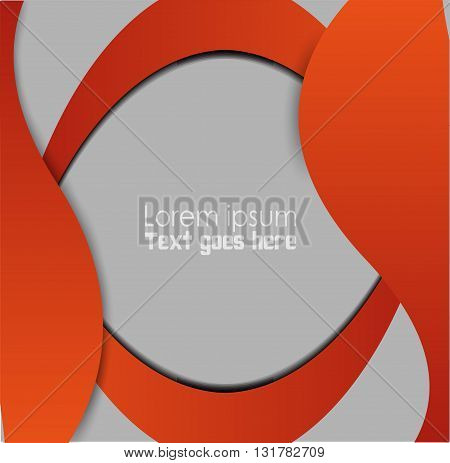 Orange, black abstract background vector design template
