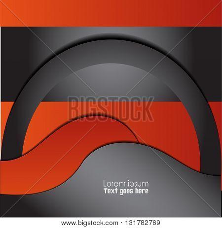 Magazine, flyer, brochure, cover layout design print template, Orange, black vector Illustration