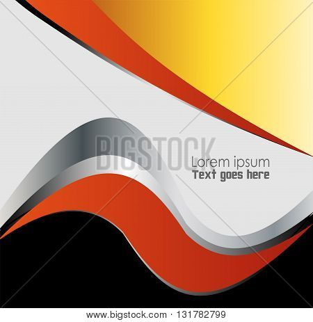 Orange paper background overlap dimension vector illustration message board for text and message design modern website