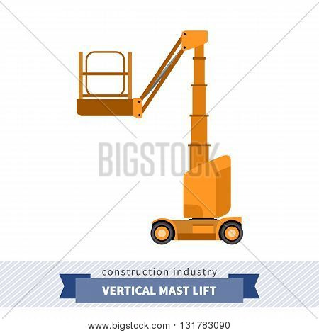 Aerial Man Vertical Mast Lift Crane