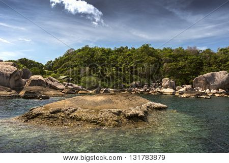 Landscapes to Ko Tao island in Thailand.