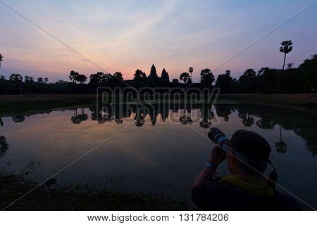 Capturing Ankor Wat At Dawn