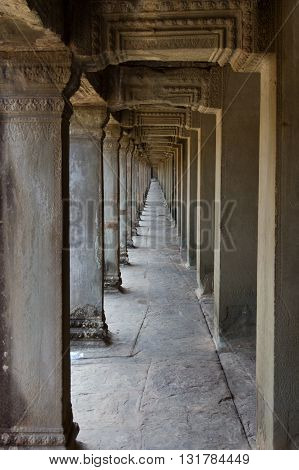 The neverending walkway at Angkor Wat temple