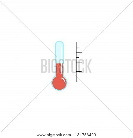 Illustration of thermometers. Thermometer with different levels. Flat of thermometer. Red thermometer. Vector of thermometer.