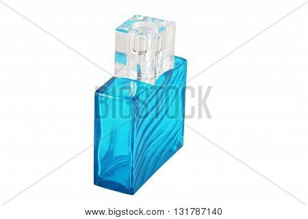 men's perfume in beautiful bottle isolated on a white background