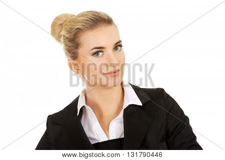 Young smile blonde businesswoman