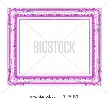 antique frame isolated on white background purple color