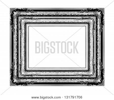 antique frame isolated on white background black color