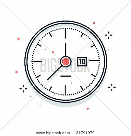Color Line, Clock Illustration
