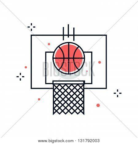 Color Line, Basketball, Sports Illustration