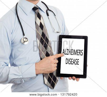 Doctor Holding Tablet - Alzheimers Disease