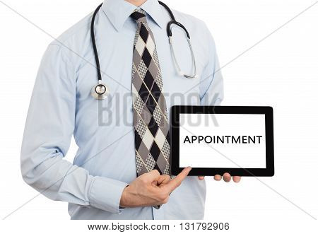 Doctor Holding Tablet - Appointment
