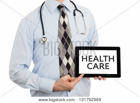 Doctor Holding Tablet - Healthcare