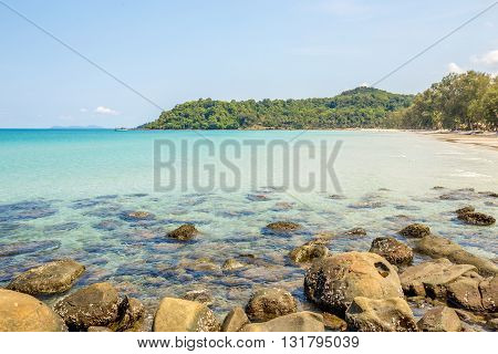 Beach and tropical sea at Koh kood island Trat province Thailand