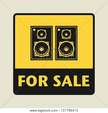 Speakers For Sale icon or sign vector illustration