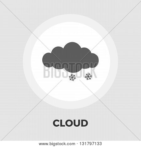 Snow icon vector. Flat icon isolated on the white background. Editable EPS file. Vector illustration.