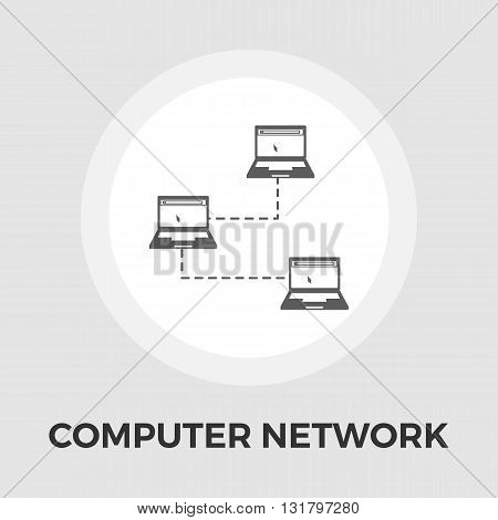 Computer sync icon vector. Flat icon isolated on the white background. Editable EPS file. Vector illustration.