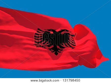 Albania wave flag HD Republic of Albania