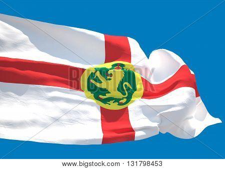 Alderney wave flag HD Aoeurgny Anne Guernsey