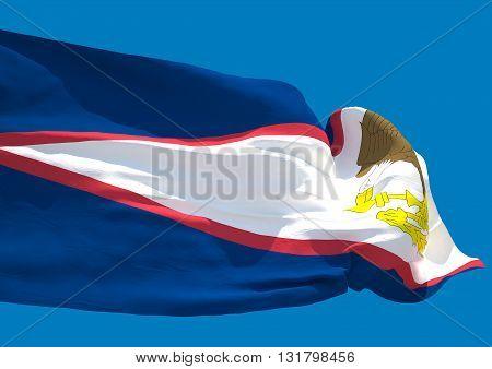 American Samoa wave flag HD Territory of American Samoa