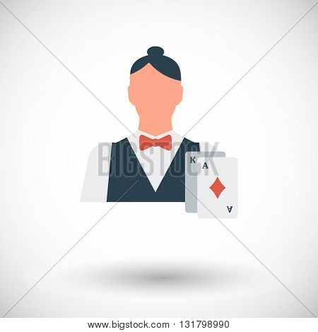 Live dealer icon. Flat vector related icon for web and mobile applications. It can be used as - logo, pictogram, icon, infographic element. Vector Illustration.