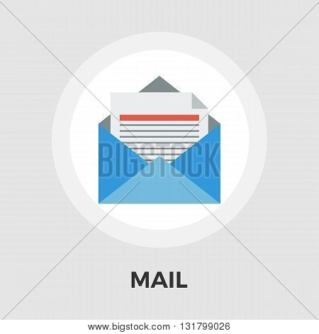 Envelope icon vector. Flat icon isolated on the white background. Editable EPS file. Vector illustration.