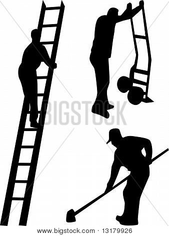 worker silhouette vector
