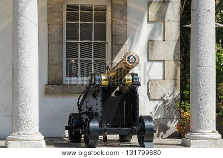 View of cannon at The Guardhouse in Gibraltar