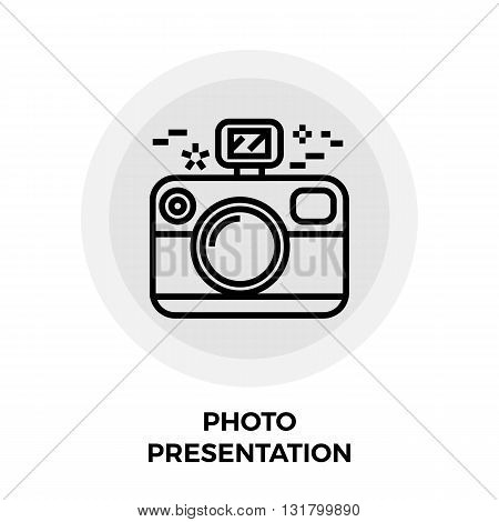 Photo Presentation icon vector. Flat icon isolated on the white background. Editable EPS file. Vector illustration.