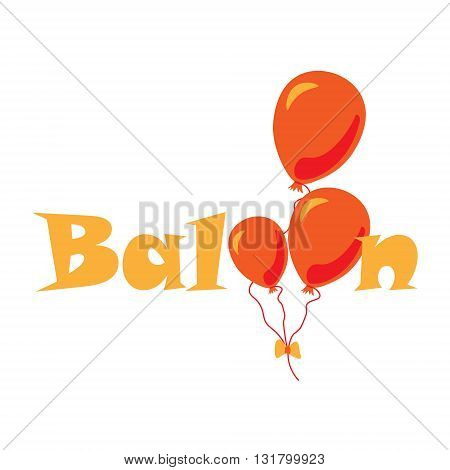 Logo for balloon company illustration of logo for the company selling holiday balloons with helium