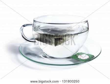 Cup of tea with tea bag, 3min. steeping time