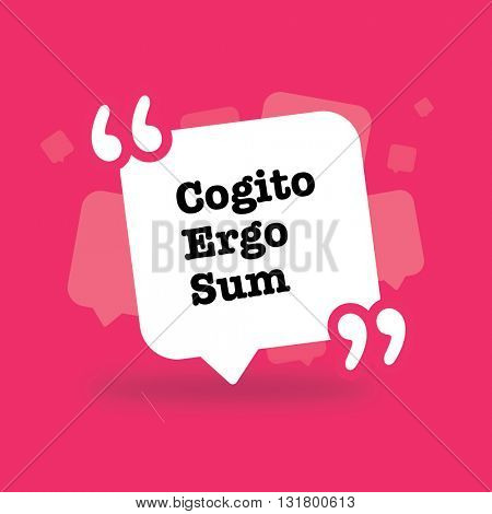 Cogite, ergo, sum, poster,philosophy,concept,poster,quote,latin,think,am,