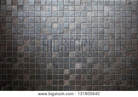 grunge tiled metal background or texture