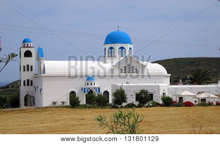 Old orthodox church in Naxos island, Greece