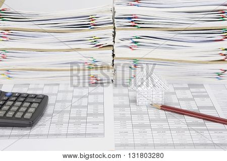 House With Pencil Have Overload Paperwork With Envelope As Background