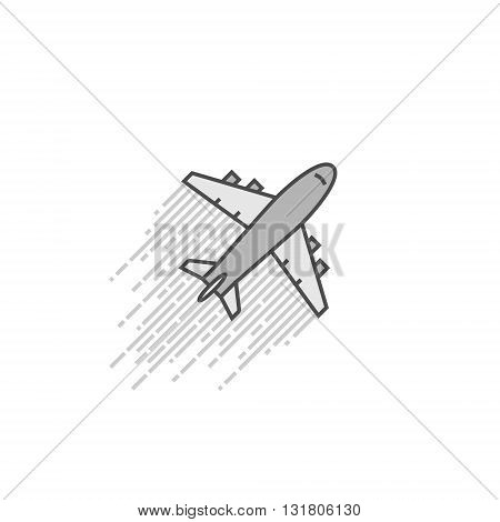Cool vector icon aircraft. Symbol travel and journey. Vector aircraft on a white background.