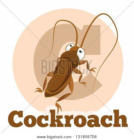 Vector image of the ABC Cartoon Cockroach