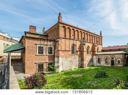 Old Jewish Synagogue in Kazimierz district of Cracow Poland