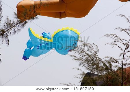 Phetchaburi, Thailand - March 13, 2015: 16th Thailand International Kite Festival on March 13, 2015 in Cha - Am beach, Phetchaburi province Thailand.