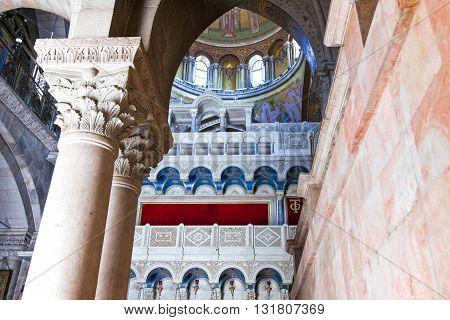 Jerusalem,  Israel - November 2, 2010:  Church of the Holy Sepulchre
